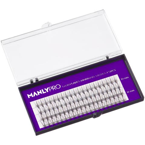 Manly PRO Набор ресниц пучковых шелк 10,12 мм